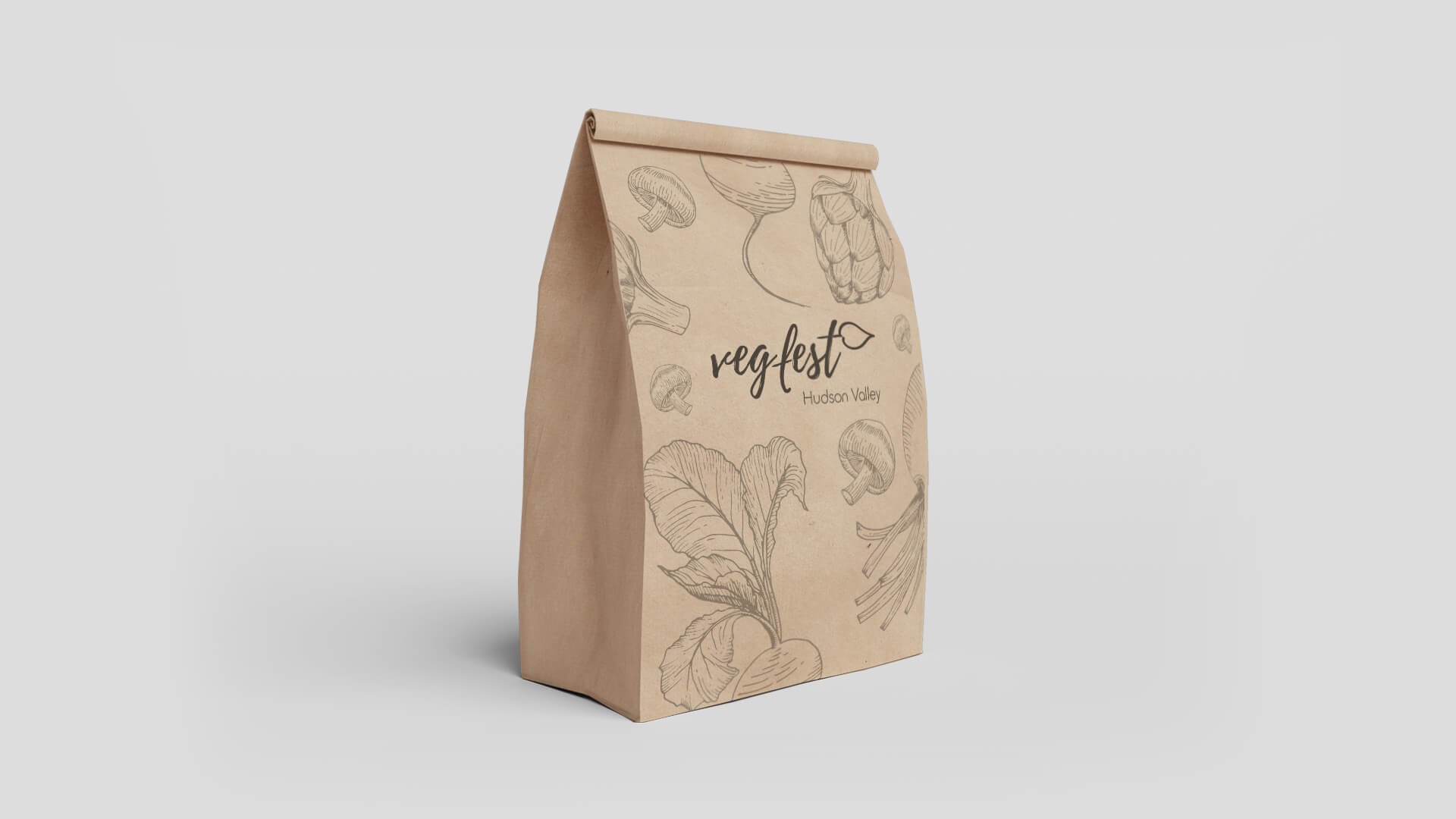Vegfest Paper Bag Mockup