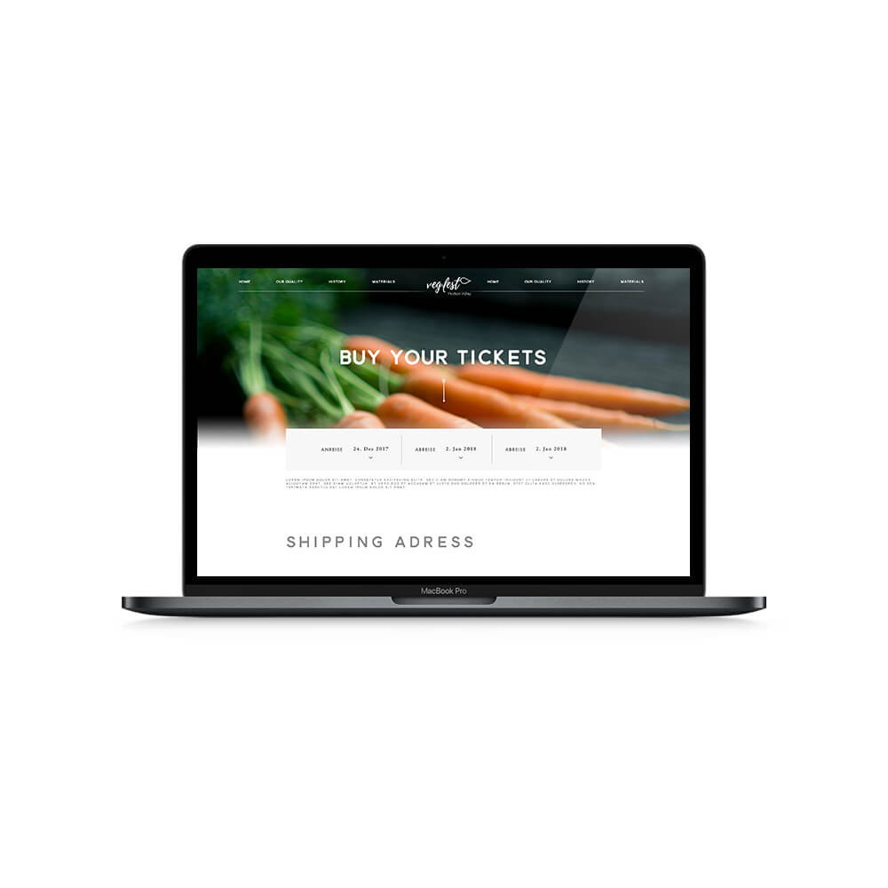 Vegfest Corporate Identity - Webdesign