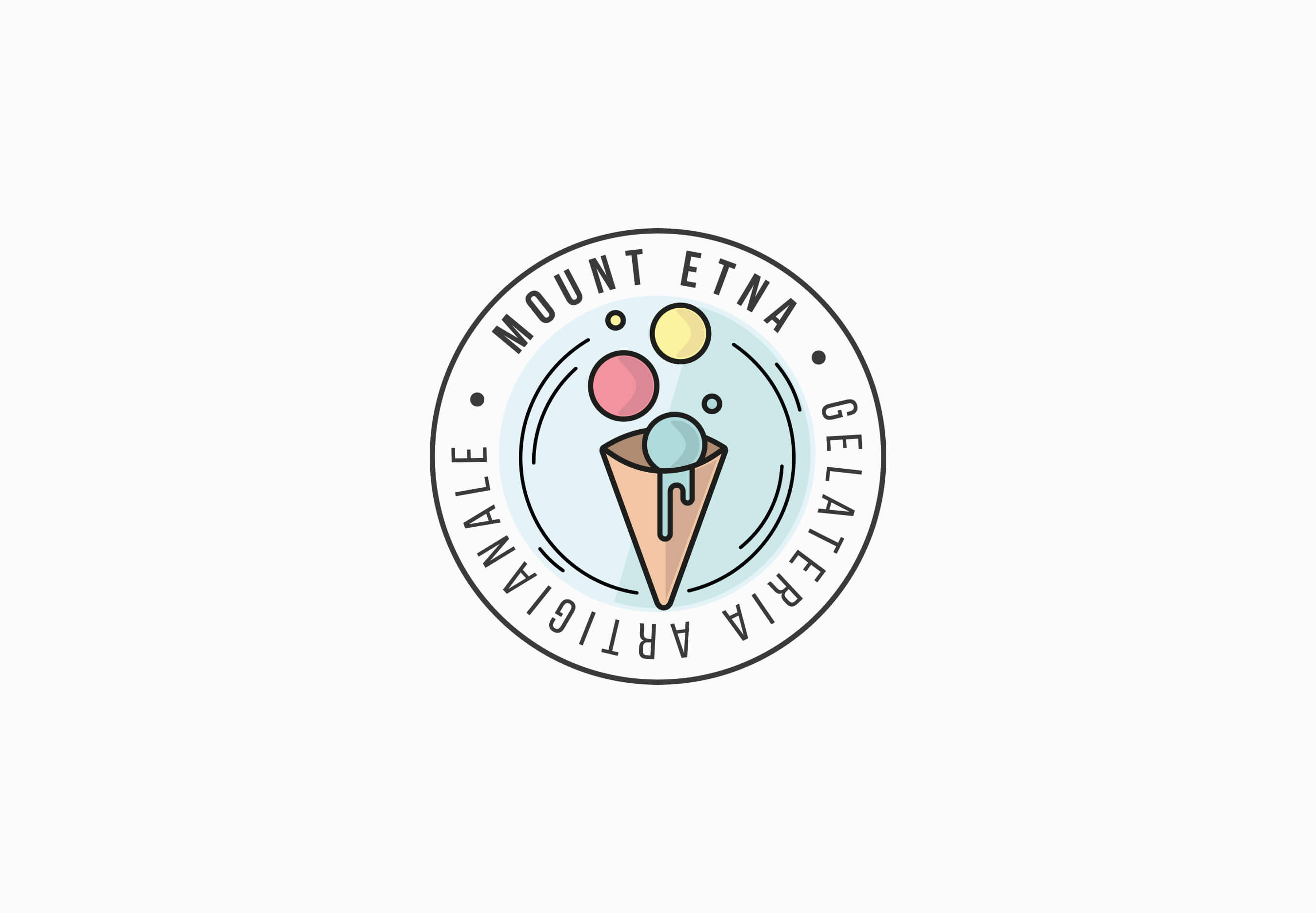 Mount Etna Logo Design – Gelateria