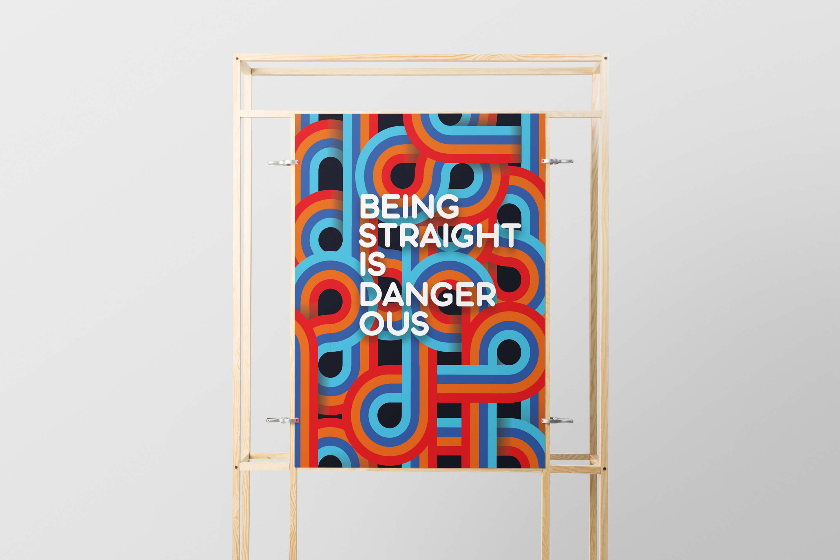 Adobe Creative Jam, Vienna 2018, Being straight is dangerous! by Philipp Mandler & Birgit Spanny