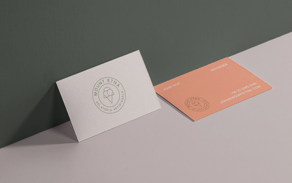 Mount Etna Gelateria Business Cards - Philipp Mandler